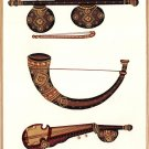 Indian Miniature Painting Handmade Veena Kombu Rabab Musical Instrument Folk Art