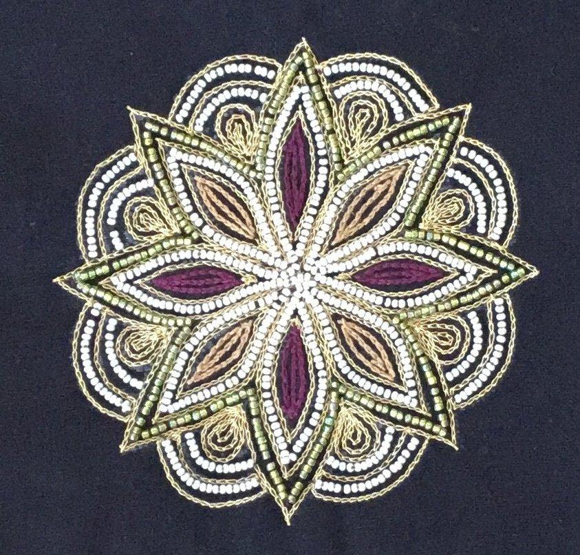 Embroidery Purse Handicraft Handmade Indian Irula Tribe Decor Kolam Artwork