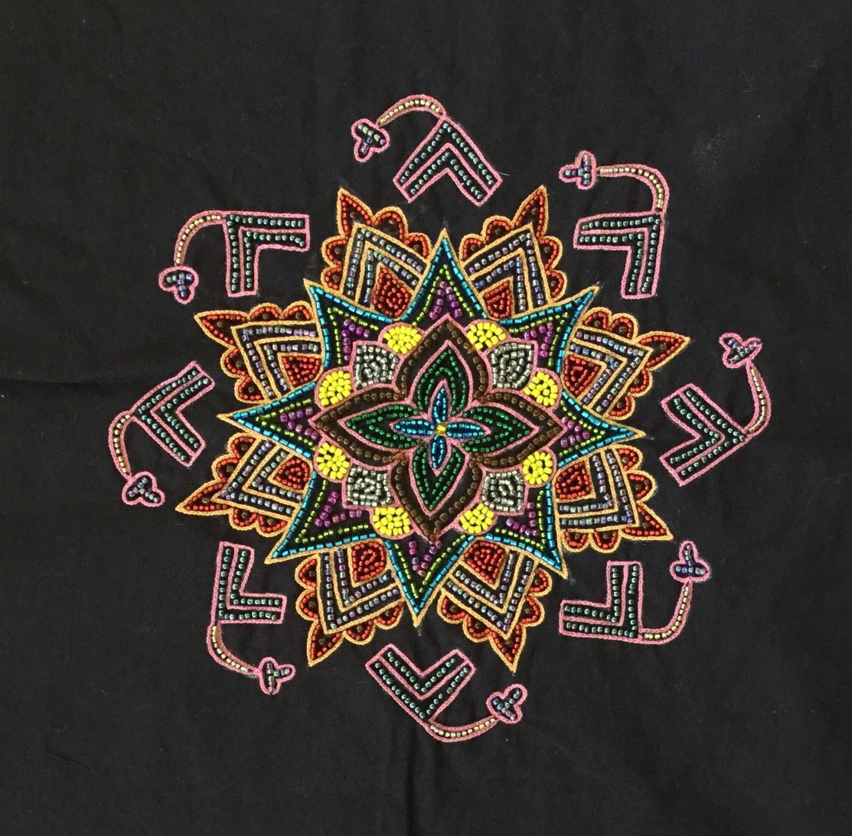 Embroidery Handicraft Handmade Indian Irula Tribe Decor Kolam Pattern Artwork