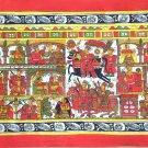 Phad Rajasthan Painting Handmade Indian Miniature Folk Decor Ethnic Scroll Art