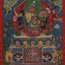 Manjushri Bodhisattva Buddha Thangka Painting Handmade Buddhist Mandala Folk Art