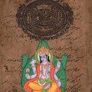 Kurma Vishnu Second Avatar Watercolor Art Handmade Indian Hindu Deity Painting