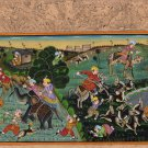 Rajasthan Miniature Painting Handmade Royal Maharajah Hunt Indian Folk Decor Art