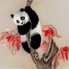 Chinese Silk Embroidery Art Handmade Chinese Giant Panda Bear Decor Handicraft