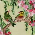 Chinese Silk Embroidery Artwork Handmade Bird Floral China Folk Decor Handicraft