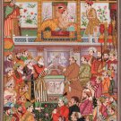 Mughal Miniature Padshahnama Painting Handmade Jahangir Khurram Moghul King Art
