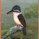 Bird Wall Art Home Decor Handmade Hook Billed Kingfisher Ornithology Painting