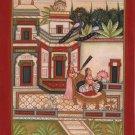 Indian Bundi Painting Handmade Patamanjari Ragini Rajasthani Miniature Folk Art