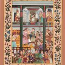 Mughal Empire Miniature Art Handmade Moghul Dara Shikoh Padshahnama Painting