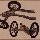 Rajasthani Indian Miniature Art Handmade Decorated Cannon Gun Weapon Painting