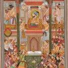 Mughal Empire Miniature Padshahnama Painting Handmade Shah Jahan Aurangzeb Art