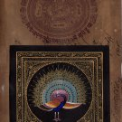 Handmade India Peacock Art Feather Pattern Watercolor Decor Stamp Paper Painting