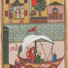 Persian Illuminated Manuscript Miniature Art Rare Islamic Handmade Folk Painting