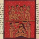Kalpasutra Jain Illuminated Manuscript Painting Jainism Indian Historical Art