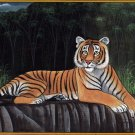 Royal Bengal Tiger Painting Handmade Indian Wild Animal Nature Jungle Art