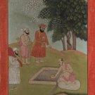 Guru Nanak Sikh Handmade Art Antique Finish Janamsakhi Series Replica Painting
