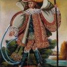 Cusco Musician Angel Peruvian Art Handmade Oil Canvas Folk Decor Cuzco Painting