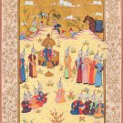 Persian Shah Empire Miniature Art Handmade Indo Islamic Middle Eastern Painting