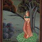 Ragamala Ragini Indian Miniature Painting Rajasthani Ethnic Handmade Folk Art