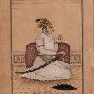 Rajasthani Miniature Art Handmade Indian Rajasthan Maharaja Portrait Painting