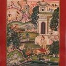 Indian Bundi Yoga Painting Handmade Yogi Ashram Rajasthani Miniature Folk Art