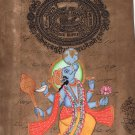 Varaha Painting Handmade Third Incarnation of Vishnu The Boar Hindu Deity Art