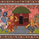 Madhubani Art Indian Mithila Miniature Tribal Folk Ramayan Handmade Painting