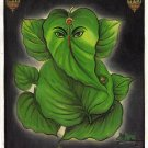 Lord Ganesh Painting Handmade Oil Color Indian God Ganesha Hindu Religion Art