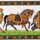 Indian Elephant Horse Camel Painting Handmade Rajasthani Animal Miniature Art
