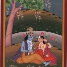 Lord Krishna Krsna Radha Painting Handmade Hindu God Spiritual Image Artwork