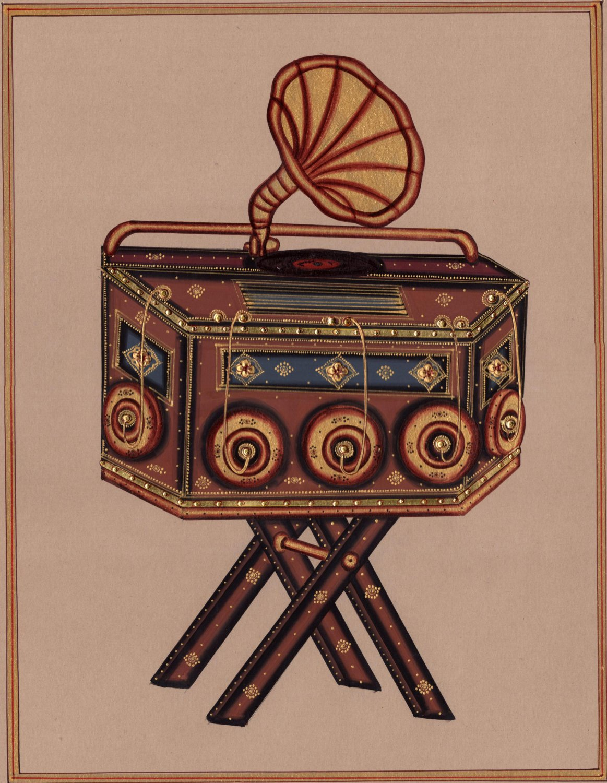 Rajasthani Miniature Bioscope Painting Handmade Indian Decor Ethnic Paper Art