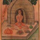 Yoga Asana Art Handmade Indian Persian Islamic Miniature Sunasana Mudra Painting