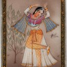 Indian Rajasthan Miniature Art Handmade Ethnic Decor Portrait Marble Painting
