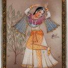 Indian Rajasthan Miniature Art Handmade Ethnic Decor Portrait Marble Painting