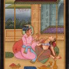 Dara Shikoh Painting Handmade Mughal Dynasty Prince Indian Miniature Decor Art