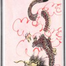 Chinese Miniature Painting Handmade Feng Shui Yang Dragon Watercolor Paper Art