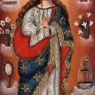 Virgin Mary Peruvian Cuzco Art Handmade Oil Canvas Religious Christian Painting