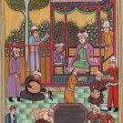 Persian Miniature Shah Painting Handmade Illuminated Islamic Manuscript Folk Art