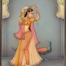 Kakubha Ragini Rajasthani Painting Indian Ethnic Handmade Ragamala Miniature Art