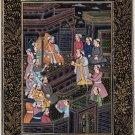 Mughal Miniature Art Rare Handmade Emperor Babur Moghul Indian History Painting