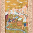 Persian Ottoman Turkish Style Painting Handmade Indo Islamic Miniature Decor Art