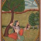 Rajasthani Vilaval Ragini Ragamala Art Indian Handmade Ethnic Miniature Painting