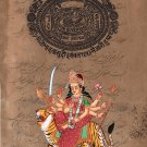 Durga Ma Hindu Goddess Art Handmade Indian Spiritual Religion Hindu Painting
