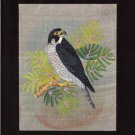 Indian Falcon Miniature Art Handmade Bird of Prey Miniature Nature Painting