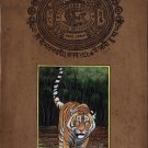 Royal Bengal Tiger Painting Handmade Animal Nature Indian Stamp Paper Cat Art