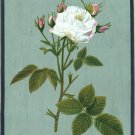 Indian Mughal Rose Flower Miniature Painting Moghul Floral Handmade Decor Art