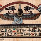 Egyptian Papyrus Pharaoh Painting Handmade Egypt Decor Miniature Historical Art