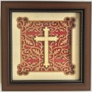 Christian Cross Decor Art Handmade Wood Carving Indian Folk Marquetry Handicraft