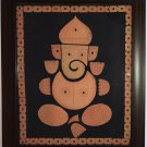 Indian Bankura Terracotta Clay Ganesha Art Handmade Bengal Decor Folk Artwork