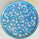 Jaipur Blue Pottery Ceramic Plate Art Handmade Indian Wall Hanging Decor Artwork